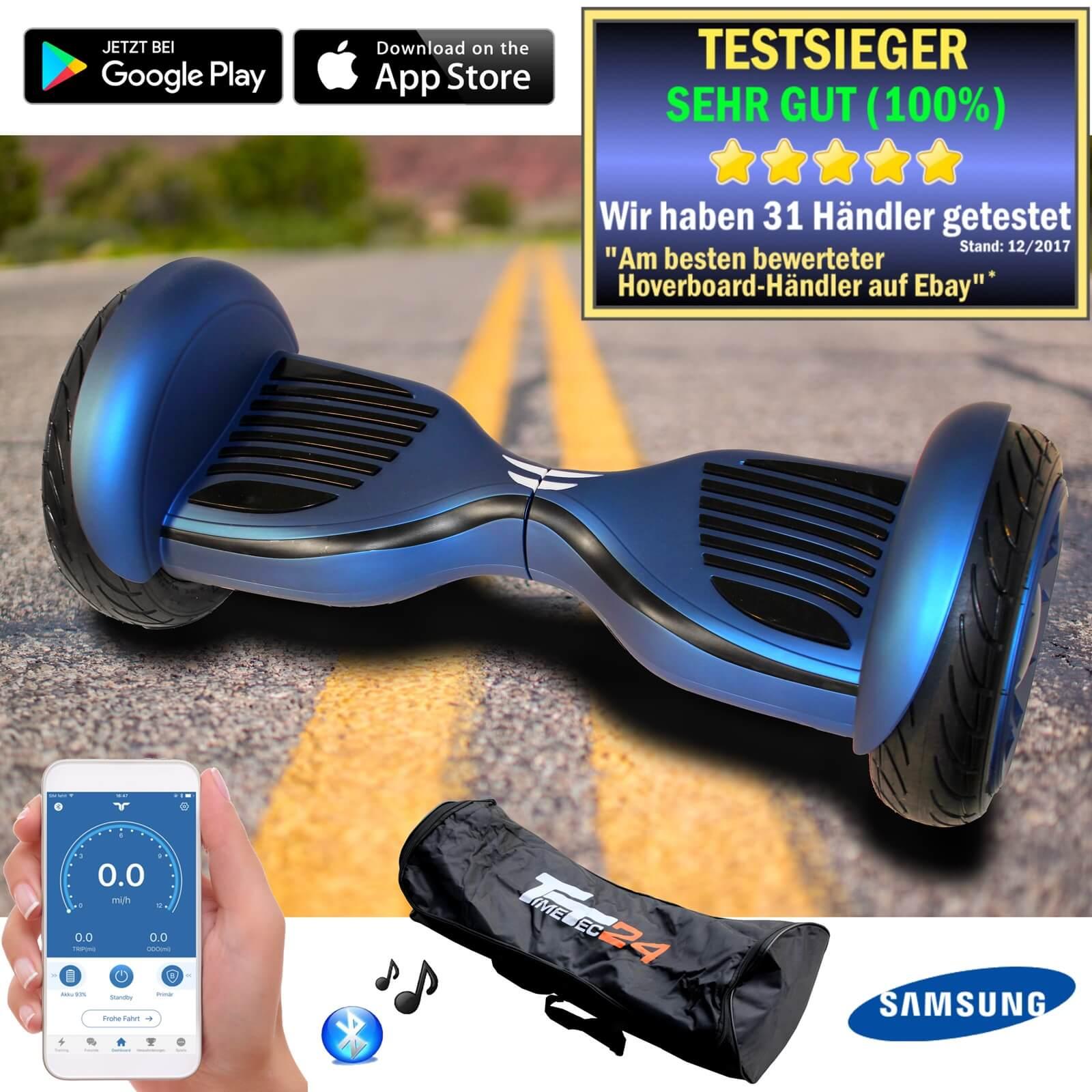 10 Zoll Hoverboard Self Self Hoverboard Balance Scooter Kinder Sicherheitsmode APP Samsung-Akku f7cf17