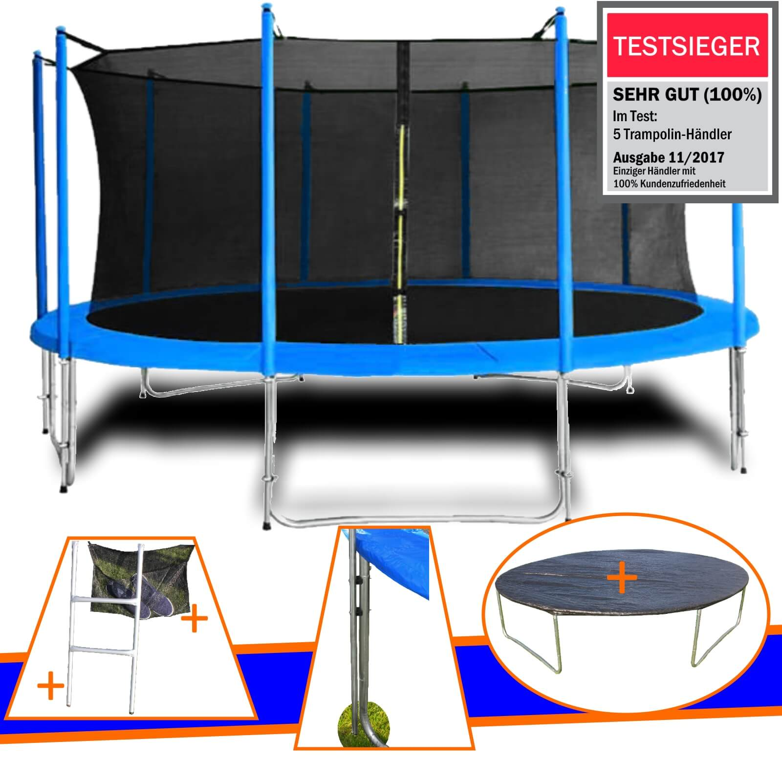 trampolin 305cm komplettset netz abdeckplane leiter outdoor randabdeckung 10ft ebay. Black Bedroom Furniture Sets. Home Design Ideas